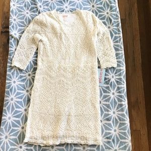 Girls Ivory Knitted Dress